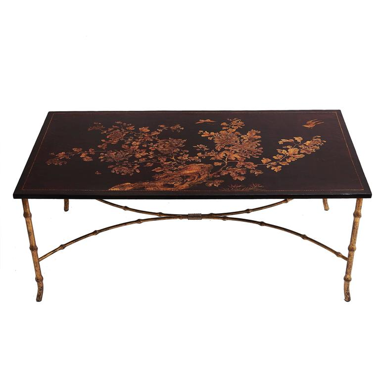 French Chinoiserie Lacquered Coffee Table Circa 1950 At 1stdibs