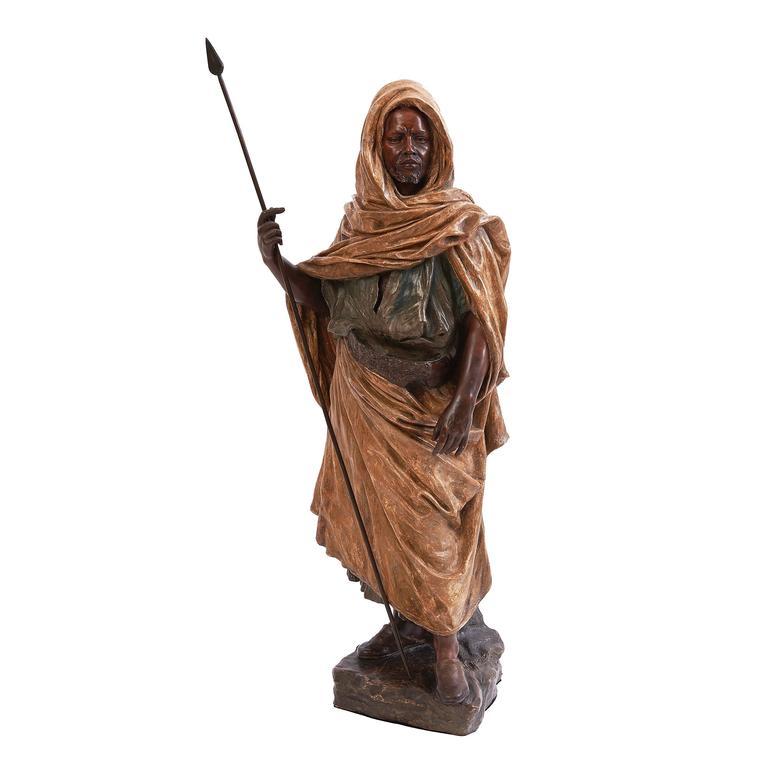 "Goldscheider Terracotta Statue ""The Guardian of the Harem,"" circa 1890"