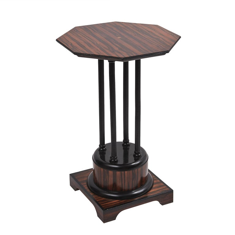 French Art Deco Macassar Occasional Table, circa 1930 For Sale