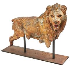 Imposing French Cast Iron Lion, circa 1890