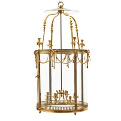 Large Gilt Bronze Eight-Light Neoclassical Lantern, France, circa 1900