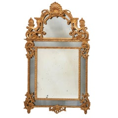 "French Regence Style Carved Giltwood ""Parecloses"" Mirror, circa 1940"