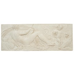 French Plaster Bas Relief Plaque after Jean Goujon's Naiad, circa 1960
