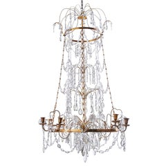 Eight-Light Gustavian Chandelier, after Olof Westerberg, Sweden, circa 1800