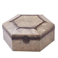 Hexagonal Arts & Crafts Shagreen casket, English, circa 1890