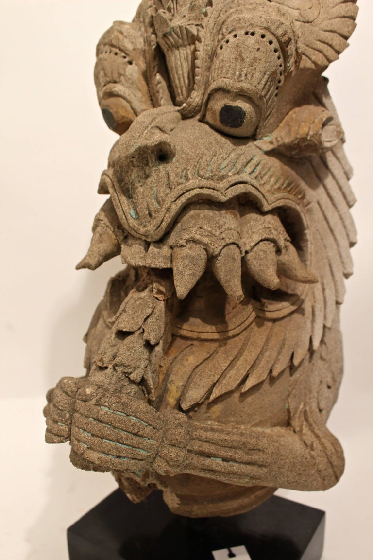 Indian vyali clay figure th century for sale at stdibs