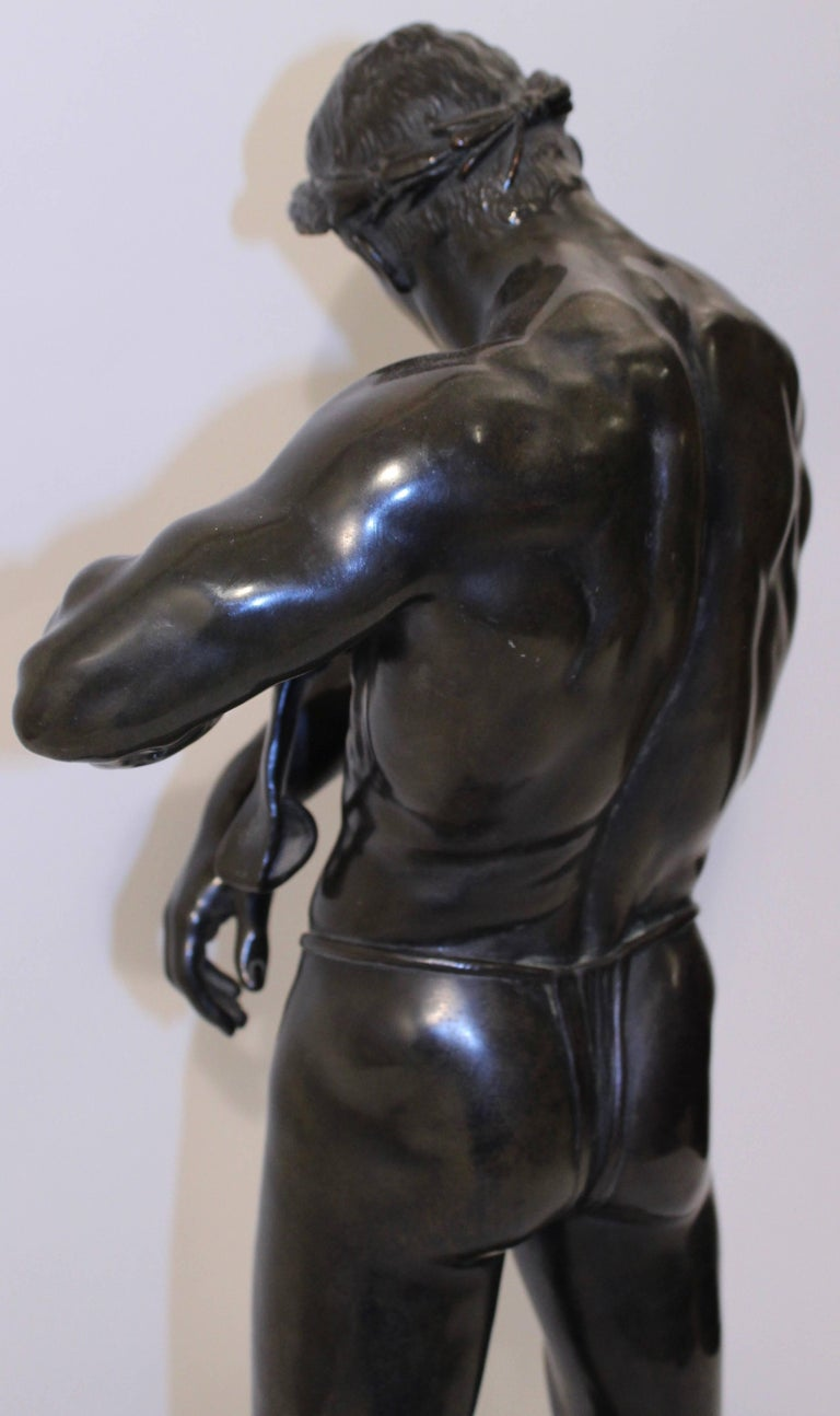 German Copper Sculpture Of A Gladiator Late 19th Century