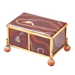 French Palais Royale Agate Casket with Gilt Bronze Mounts, circa 1860