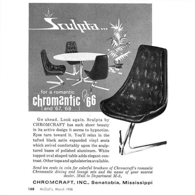 1960s Aluminium Chromcraft 'Sculpta' Chair Re-Upholstered in Black Leather In Good Condition For Sale In London, GB