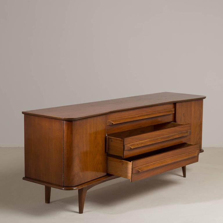 American Mid Century Modern Walnut Cabinet 1960s For Sale