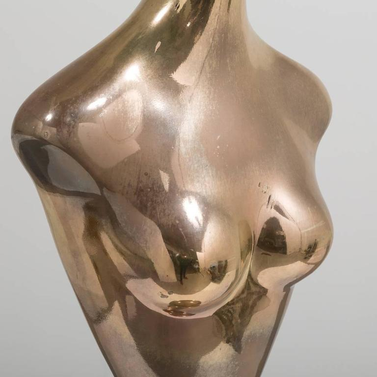 Late 20th Century Mercury Resin Female Torso, 1960s For Sale