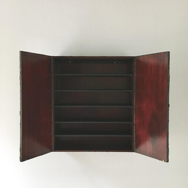 Bronzed Resin Paul Evans designed Wall Hung Cabinet, 1970 For Sale 5