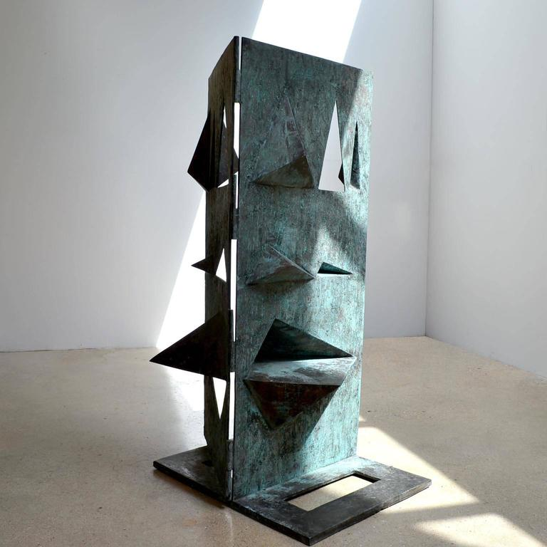 Bronze Sculpture Titled 'Comparison' by Toni Fabris, circa 1972 In Excellent Condition For Sale In London, GB
