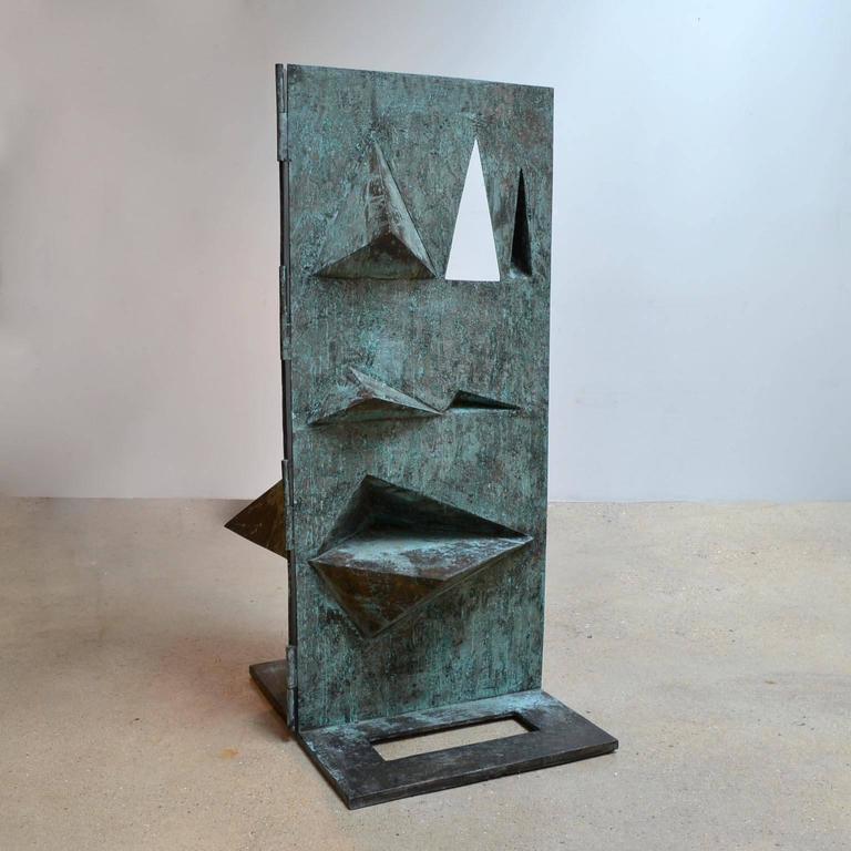 Late 20th Century Bronze Sculpture Titled 'Comparison' by Toni Fabris, circa 1972 For Sale