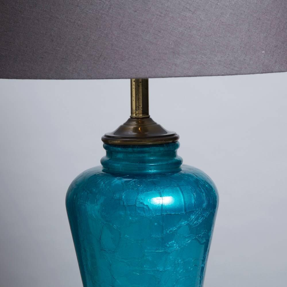 pair of turquoise glass table lamps on bronze mounts 1960s at 1stdibs. Black Bedroom Furniture Sets. Home Design Ideas