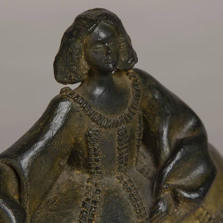 """Spanish Bronze by Pilar Gomez Francos Titled """"Menina"""" In Excellent Condition For Sale In London, GB"""