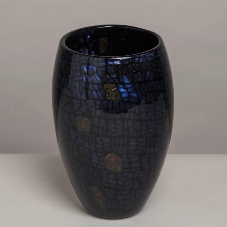 A Ferro Vittorio glass vase with aventurine detail, 1990s  NB: These items are subject to a further discount over and above the trade when exported outside the EU of 10%.