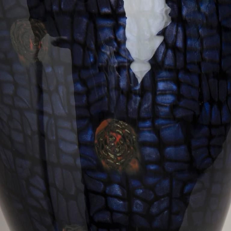 Ferro Vittorio Glasvase mit Aventurin Detail, 1990er Jahre 4