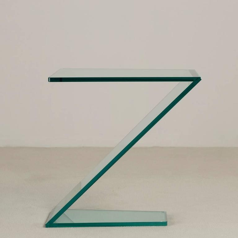 Cantilevered Sculptural Glass Side Table 6