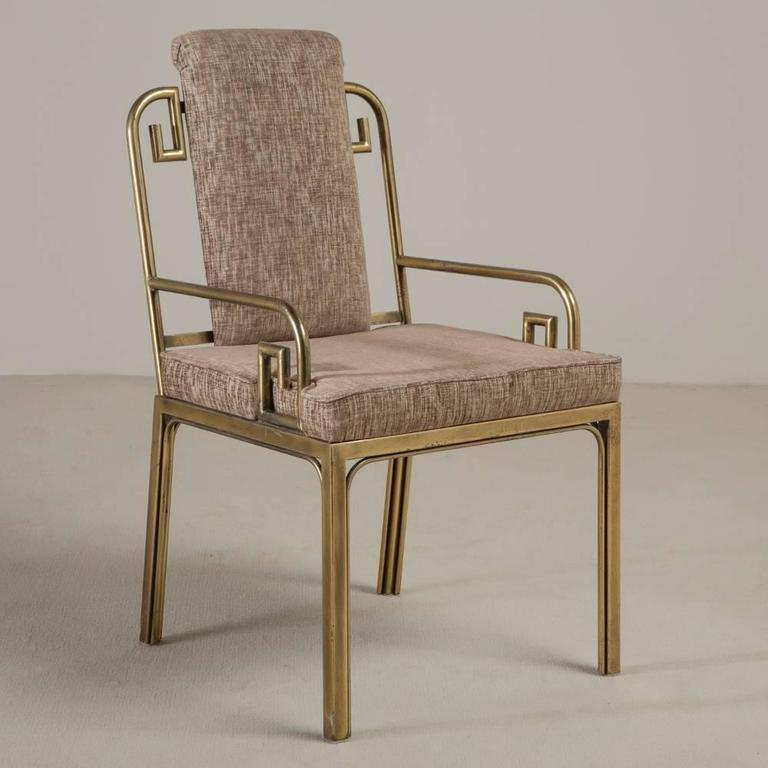 Set of Six Mastercraft Brass-Framed Dining Chairs, 1970s 2