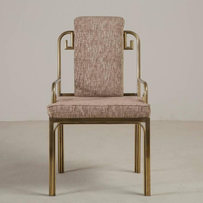Set of Six Mastercraft Brass-Framed Dining Chairs, 1970s 3