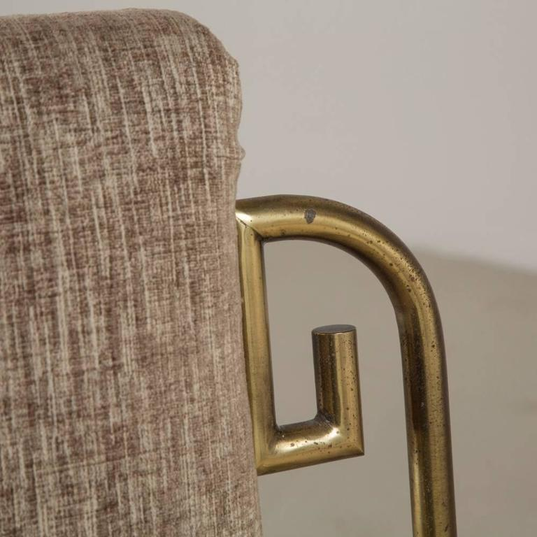Set of Six Mastercraft Brass-Framed Dining Chairs, 1970s 5