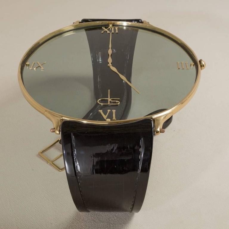 A Vintage Brass And Lacquer Ds Wrist Watch Coffee Table