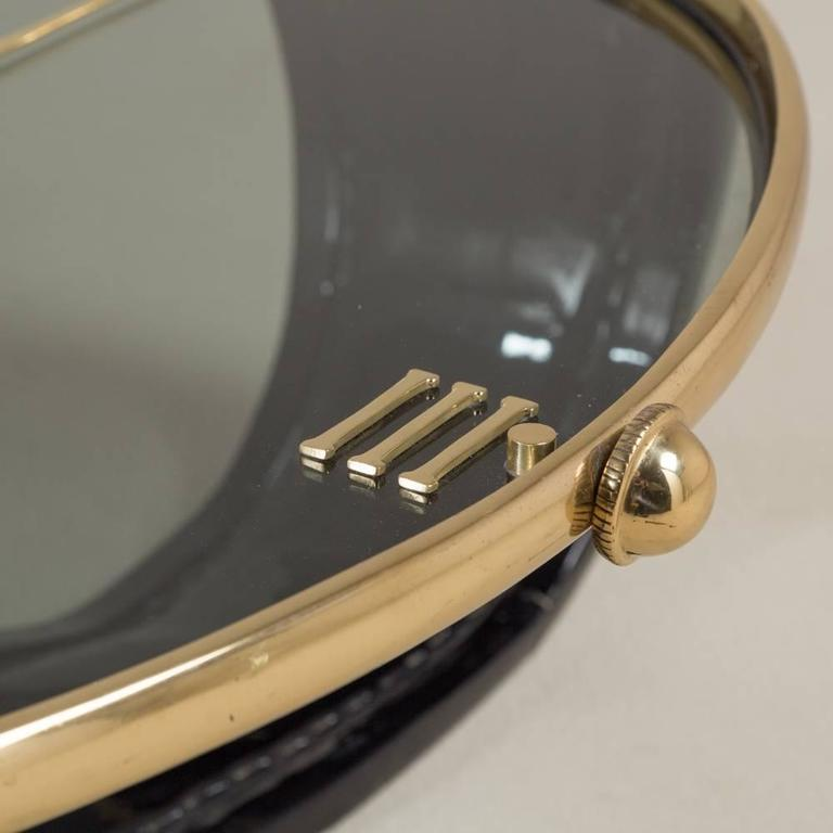 20th Century Vintage Brass And Lacquer Ds Wrist Watch Coffee Table For