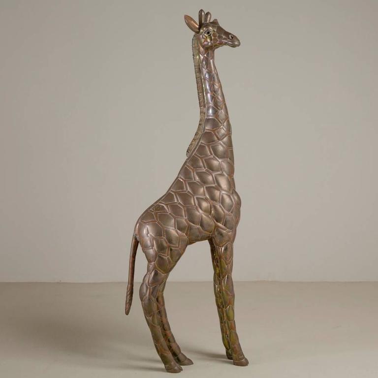 Small Copper and Brass Giraffe by Sergio Bustamante 3