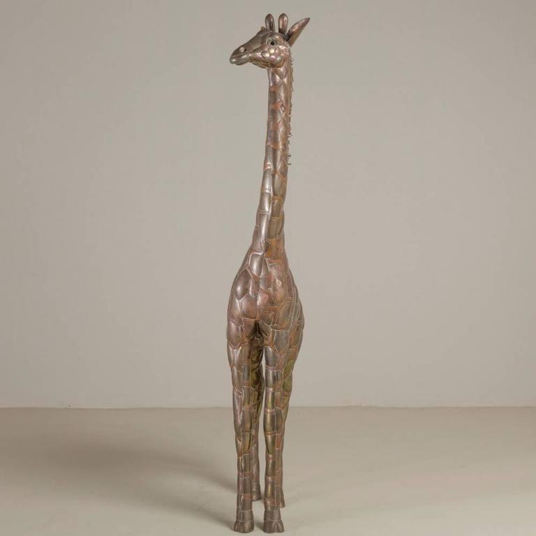 Small Copper and Brass Giraffe by Sergio Bustamante 2
