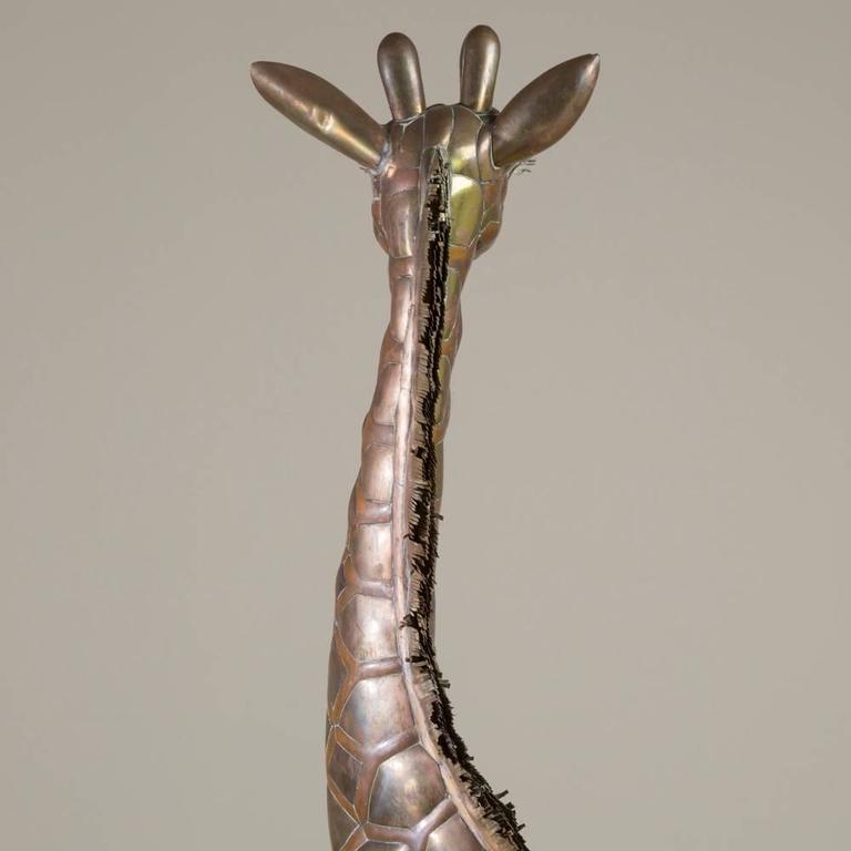 Small Copper and Brass Giraffe by Sergio Bustamante 4