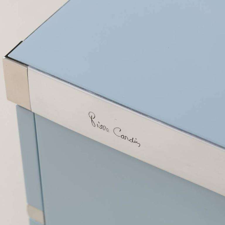 Pair of Bone China Blue Pierre Cardin Side Cabinets, 1970s For Sale 2