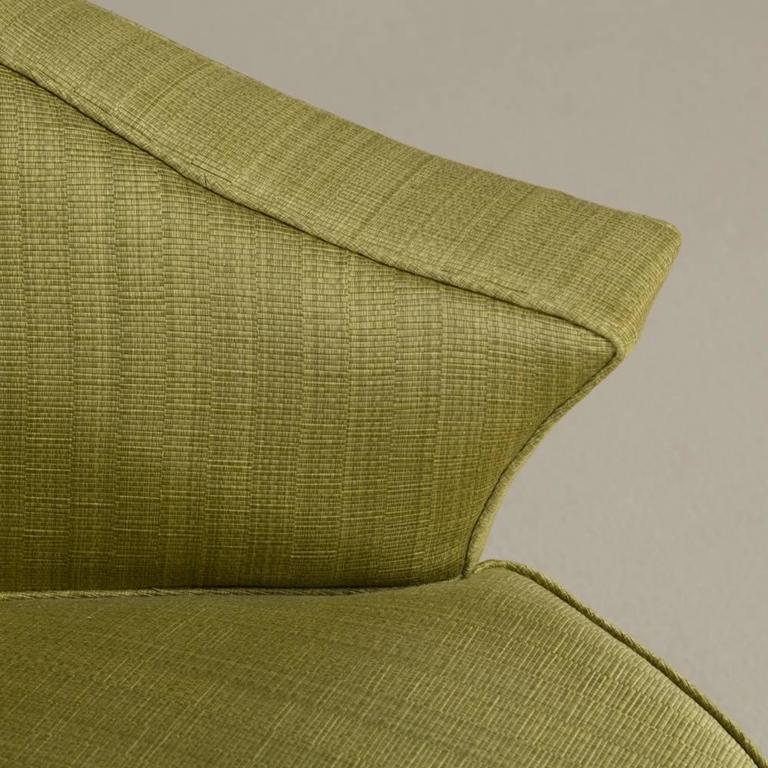 Single Ebonized Framed Upholstered Armchair For Sale 1