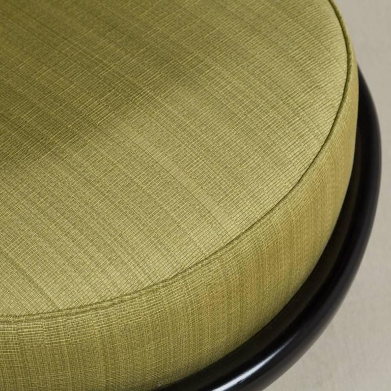 Single Ebonized Framed Upholstered Armchair For Sale 2