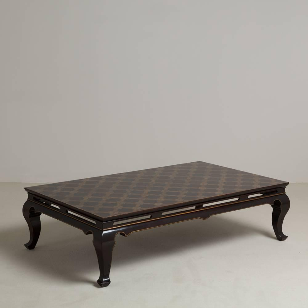 john boone designed laque de chine coffee table for sale