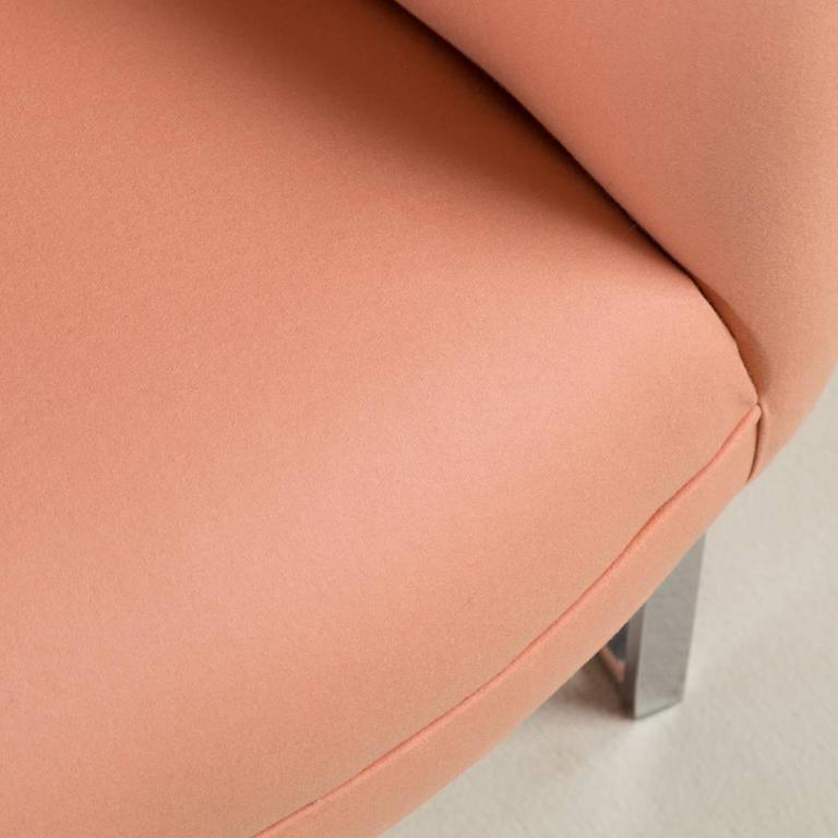 Milo Baughman Chromium Steel Framed Armchair, 1970s For Sale 2