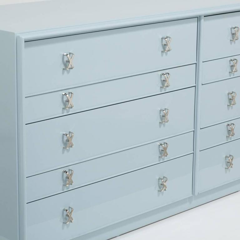Superb Paul Frankl Lacquered Ten Drawer Commode, 1950s 4