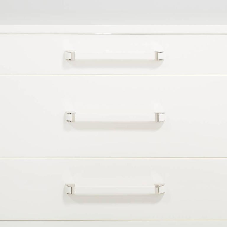 Mid-20th Century Widdicombe Five-Drawer Ivory Lacquered Commode, 1950s For Sale