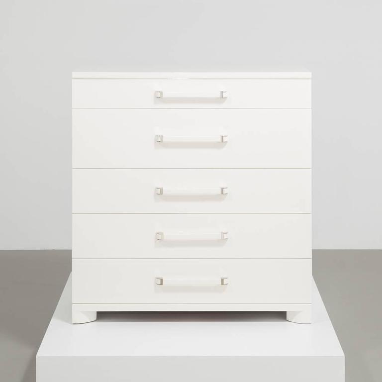 Widdicombe Five-Drawer Ivory Lacquered Commode, 1950s 3