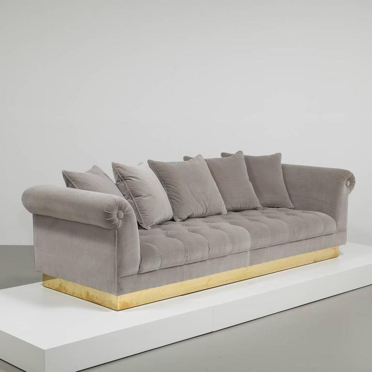 deep buttoned sofa by talisman bespoke for sale at 1stdibs