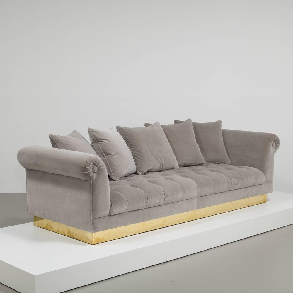 Deep buttoned sofa by talisman bespoke for sale at 1stdibs for Deep sofas for sale