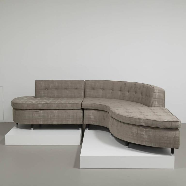 Two part button back sectional sofa by talisman bespoke for Sofa bespoke