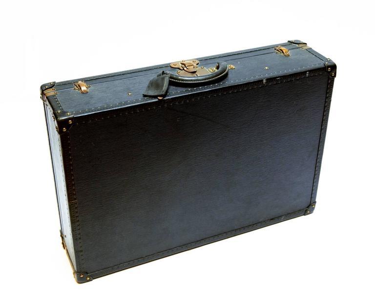 Mid-Century Modern Vintage Louis Vuitton Black Epi Leather Four-Piece Luggage Set For Sale