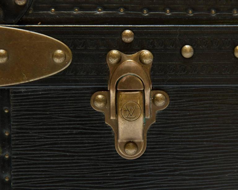 Vintage Louis Vuitton Black Epi Leather Four-Piece Luggage Set For Sale 1