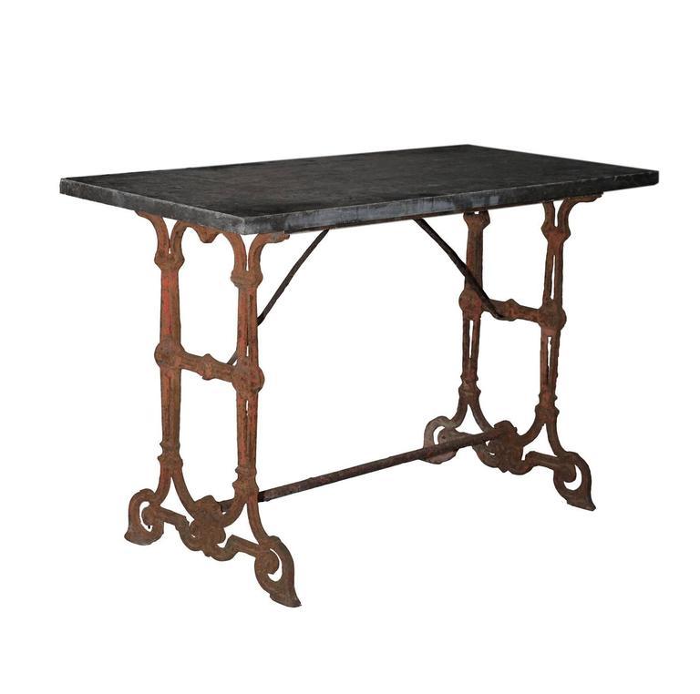 Antique Cast Iron Garden Table