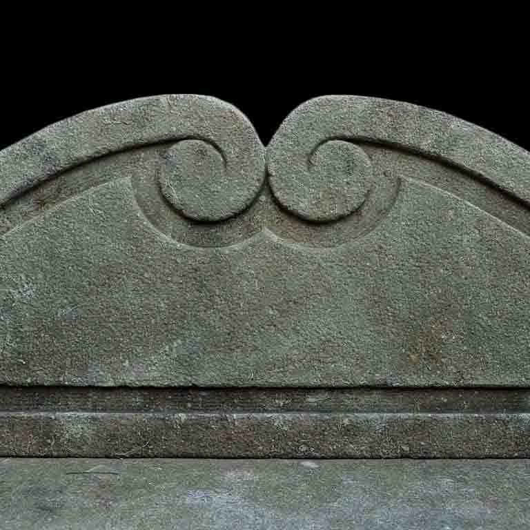 Italian 20th Century Limestone Bench with Back 3