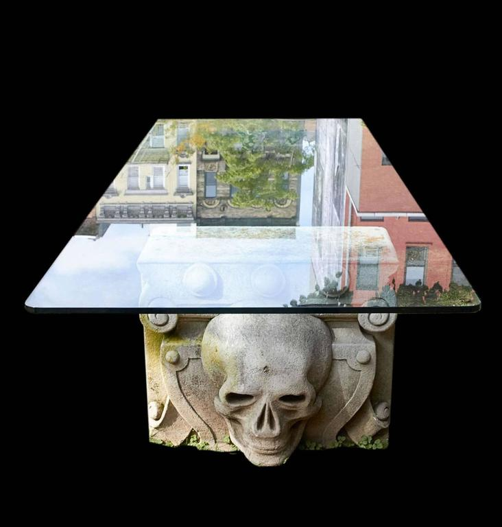 Stone Skull Table For Sale at 1stdibs