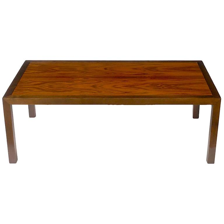 Walnut And Rosewood Parsons Leg Coffee Table For Sale At 1stdibs