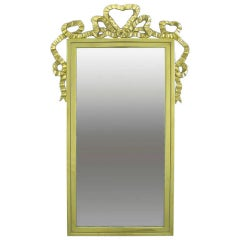 Brass Wall Mirror with Solid Brass Ribbon Swag