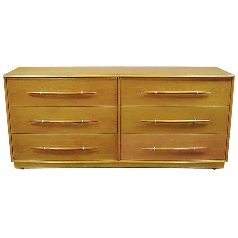 Rare T.H. Robsjohn-Gibbings Bleached Walnut Dresser for Widdicomb
